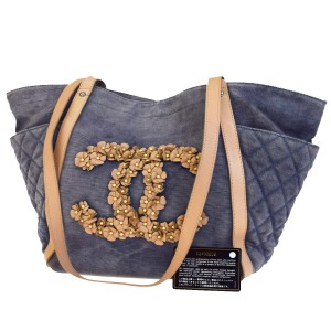 Chanel Exclusive Luxury European Caviar Limited Edition Tote in Blue