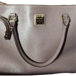 Dooney & Bourke Leather Work Tote in Elephant/Gray