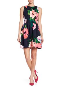 Vince Camuto Floral A-line Pleated Dress