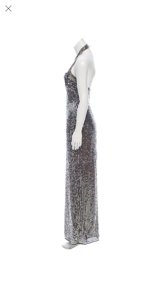 Parker Gunmetal Sophie Gown Long Formal Dress Size 0 (XS) - Tradesy