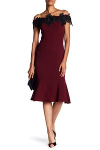 Marina Lace Trim Formal Dress