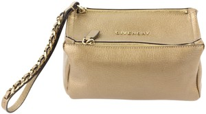 Givenchy Pandora Leather Wristlet in Bronze