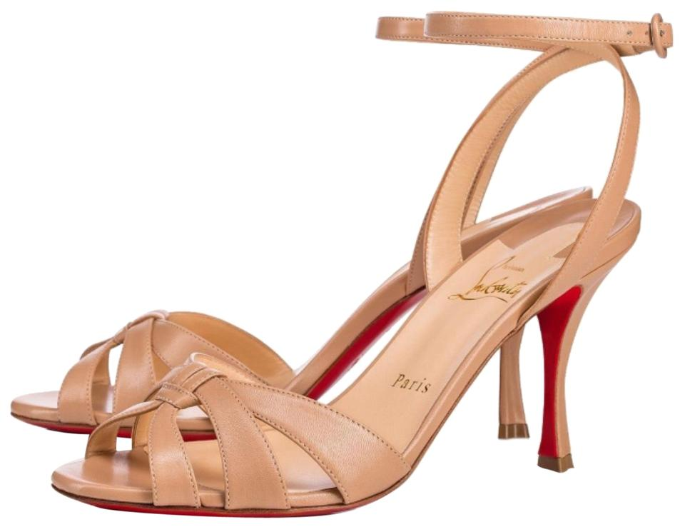 Christian Louboutin Nude Trezuma Sandal Leather 85mm Stiletto Sandal Trezuma Pumps 2a2f14