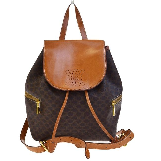 Item - Macadam Pattern Pvc Leather Brown Italy Backpack