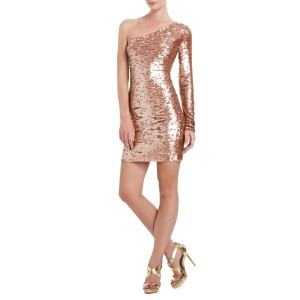 BCBGMAXAZRIA short dress Rose Gold on Tradesy