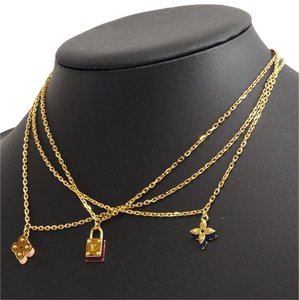 Louis Vuitton Chain Trio Sweet Charm Necklace