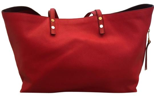 Preload https://img-static.tradesy.com/item/23719345/chloe-red-grained-leather-tote-0-1-540-540.jpg