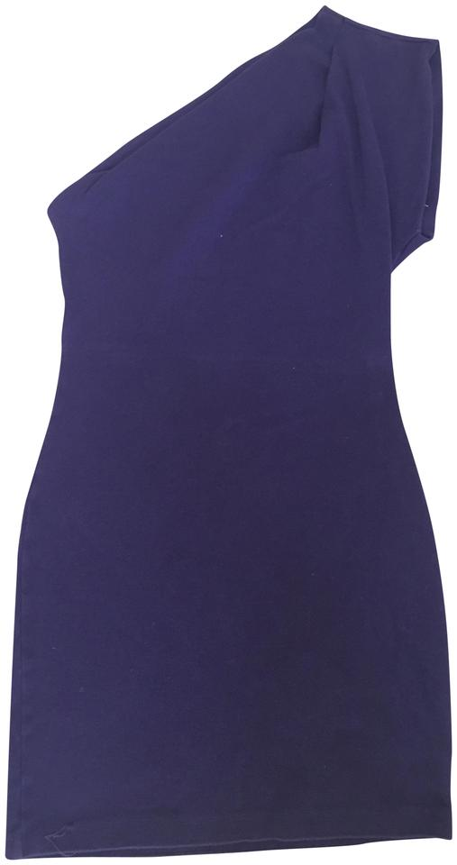 931b3386a62 American Apparel Purple One Shoulder Short Night Out Dress Size 6 (S ...