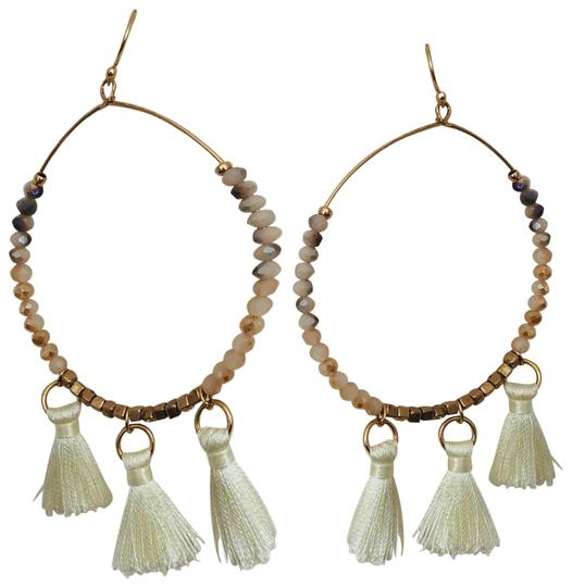 Preload https://img-static.tradesy.com/item/23719404/taupe-hoop-tassel-earrings-0-1-540-540.jpg