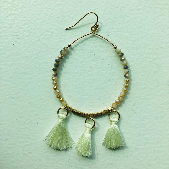 Other Taupe Hoop Tassel