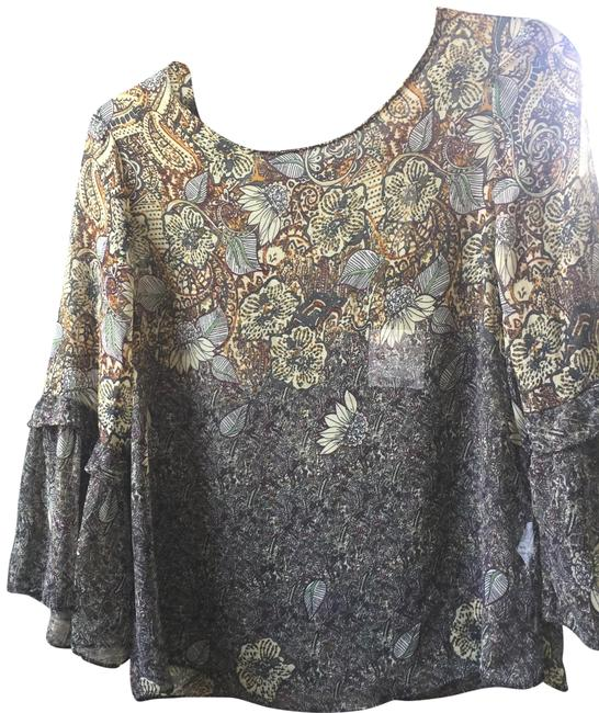 Zara Top Brown