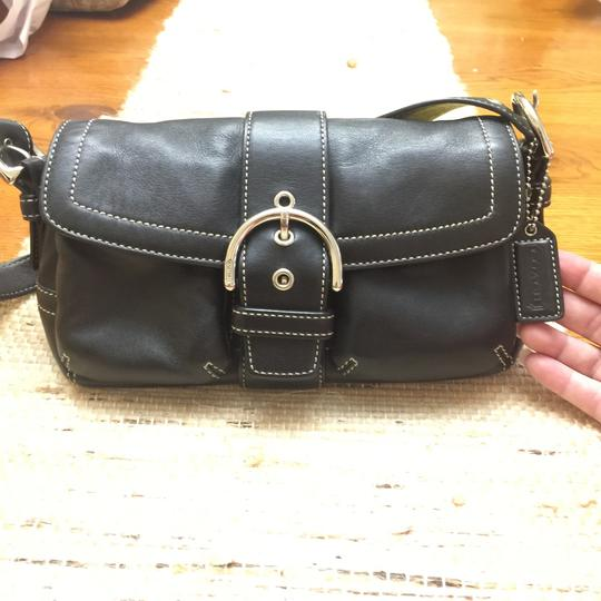 Coach Satchel in dark brown