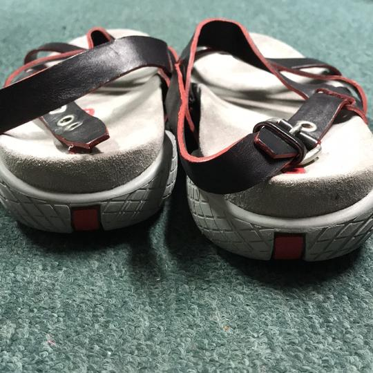 Prada black with red highlights Sandals