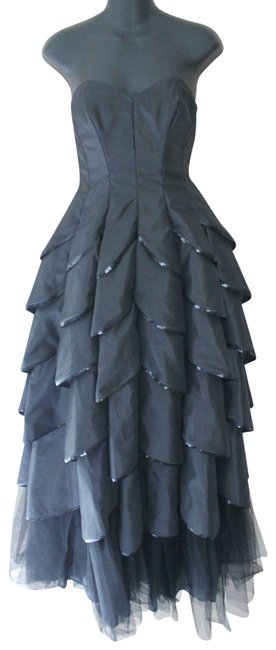 Preload https://img-static.tradesy.com/item/23719542/betsey-johnson-black-strapless-tiered-sequin-tulle-gown-long-formal-dress-size-4-s-0-1-650-650.jpg