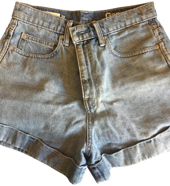 Preload https://img-static.tradesy.com/item/23719574/gap-light-wash-rise-jean-minishort-shorts-size-2-xs-26-0-1-650-650.jpg