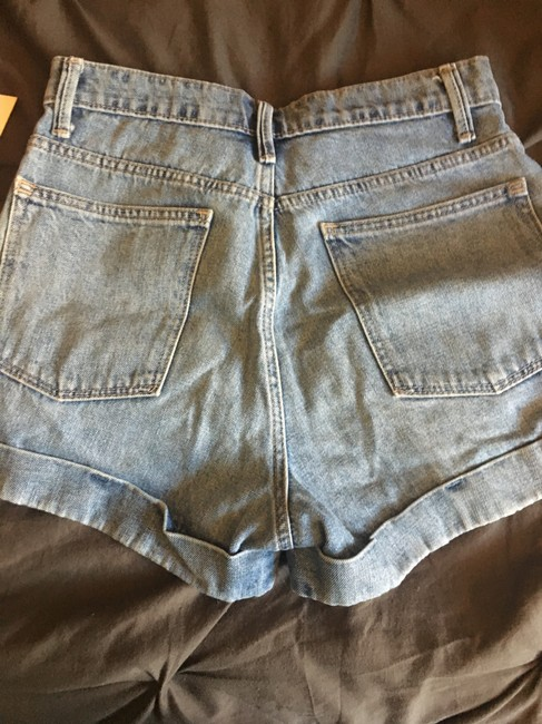 Gap Cuffed High Waisted Jean Mini/Short Shorts Light wash