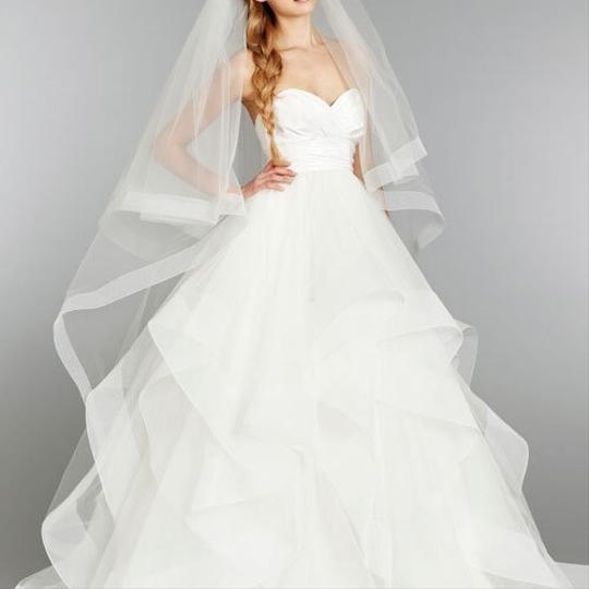 Hayley Paige Ivory Silk and Tulle Londyn/Hp 6358 Feminine Wedding Dress Size 6 (S)