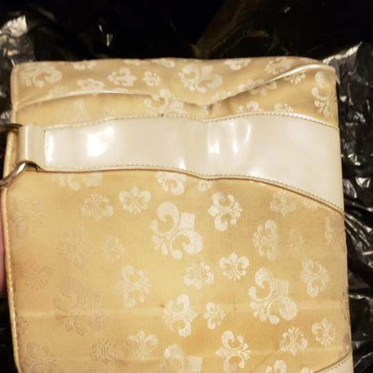 House of Deréon Satchel in White and Gold