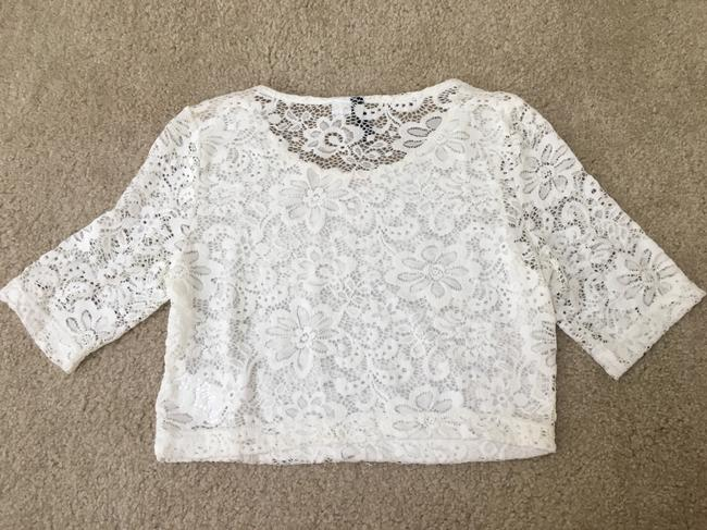 Divided by H&M Crop Lace T Shirt White