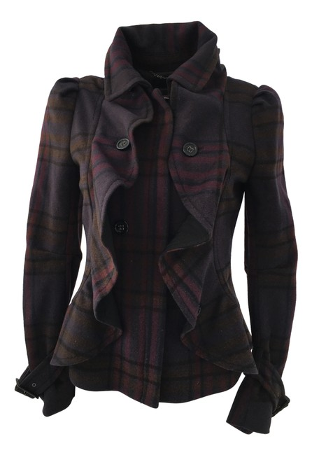 Item - Purple Plaid Coat Size 0 (XS)