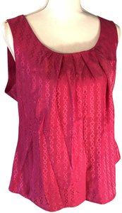 Trina Turk Classic Top Magenta/Hot pink Chainlink