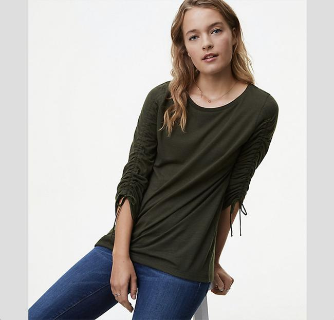 Ann Taylor LOFT Top New Olive Green