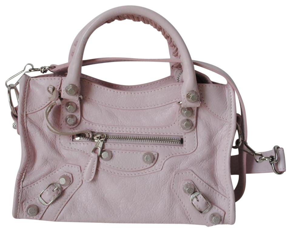 City Balenciaga Silver In Bag Rose Mini Leather Cross Pink Lambskin Classic Body wapqraHt