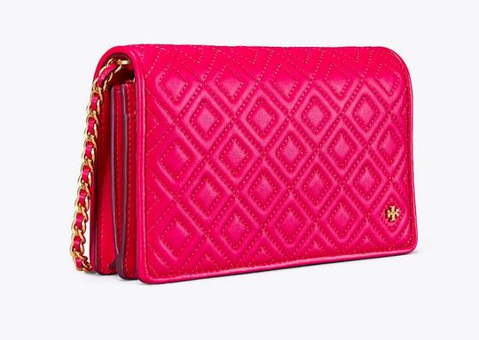 Tory Burch Fleming Leather Quilted Cross Body Bag