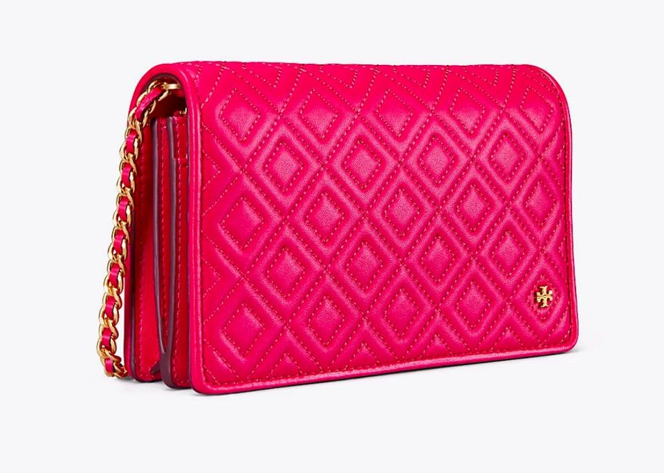 Tory Quilted Cross Purse Bag Pink Fleming Body Burch New Clutch Leather qtrtB