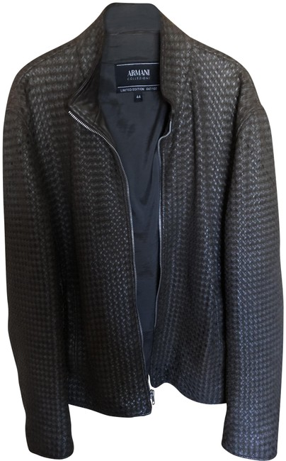 Preload https://img-static.tradesy.com/item/23719975/giorgio-armani-chocolate-brown-colleczione-numbered-edition-woven-leather-jacket-size-14-l-0-1-650-650.jpg