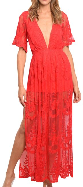 Preload https://img-static.tradesy.com/item/23720003/honey-punch-red-lace-long-casual-maxi-dress-size-4-s-0-3-650-650.jpg