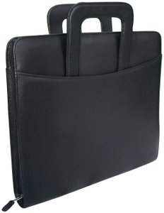Franklin Covey Monarch Simulated Leather Zipper Binder with Handles