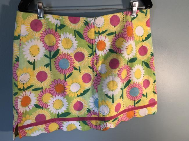 Lilly Pulitzer Classic Vintage Mini Skirt Brightly colored, floral, skort (shorts underneath)
