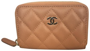 Chanel Chanel Zippy Coin Purse Rare Lambskin Quilted