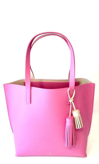 Preload https://img-static.tradesy.com/item/23720103/kate-spade-foster-court-tasha-with-tassels-pink-leather-tote-0-3-540-540.jpg