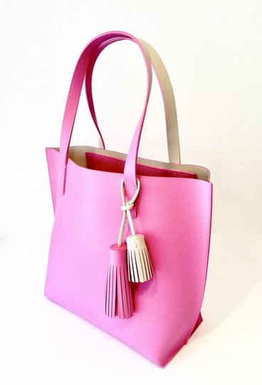 Kate Spade Tassels Leather Colored Leather Tote in Pink