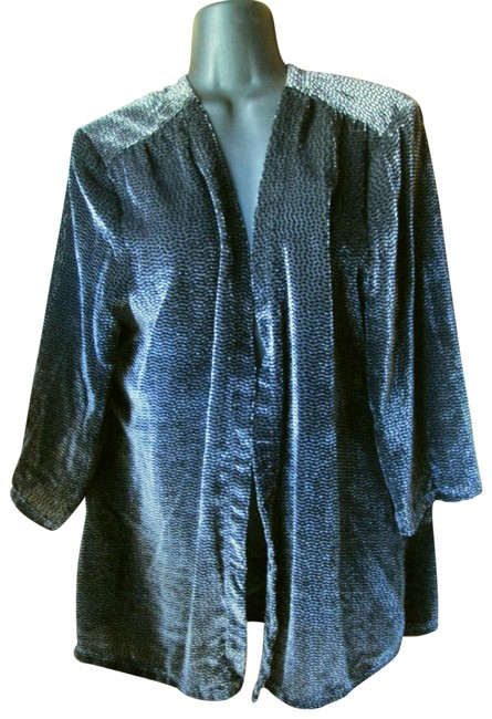 Chico's Velour Velvet Formal Metallic Career Multicolored Blazer