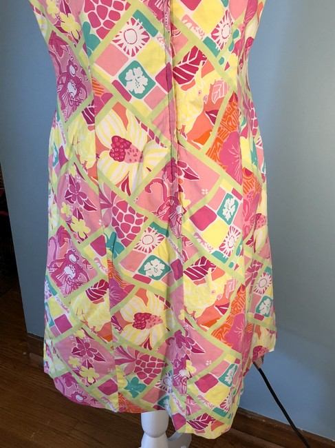 Monkey, floral print Maxi Dress by Lilly Pulitzer Classic Vintage
