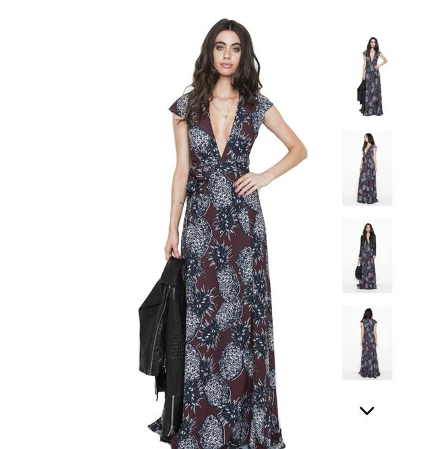 Preload https://img-static.tradesy.com/item/23720152/burgundy-with-lack-pineapple-print-lindsay-wrap-long-casual-maxi-dress-size-4-s-0-0-650-650.jpg