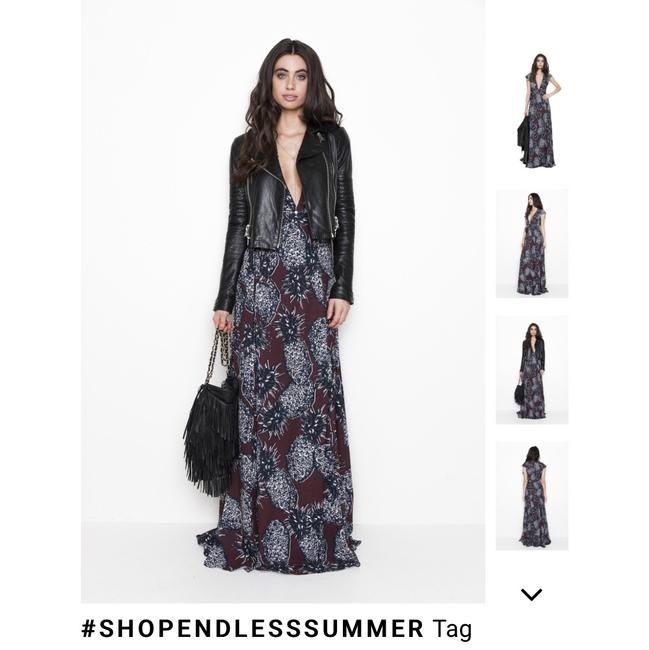burgundy with. lack pineapple print Maxi Dress by Endless Summer