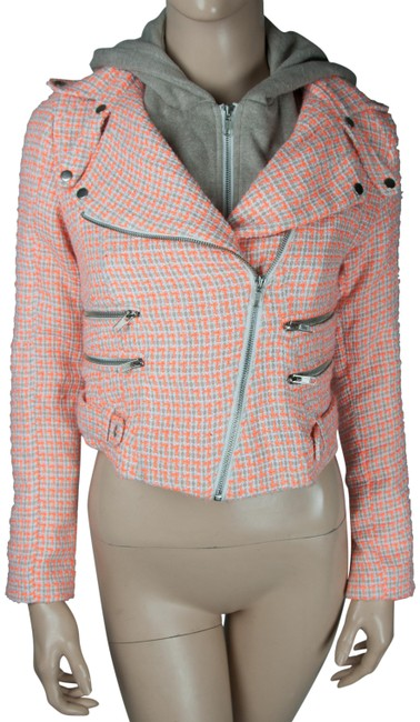 Preload https://img-static.tradesy.com/item/23720286/pink-sweater-orange-white-gray-hoodie-spring-jacket-size-6-s-0-1-650-650.jpg