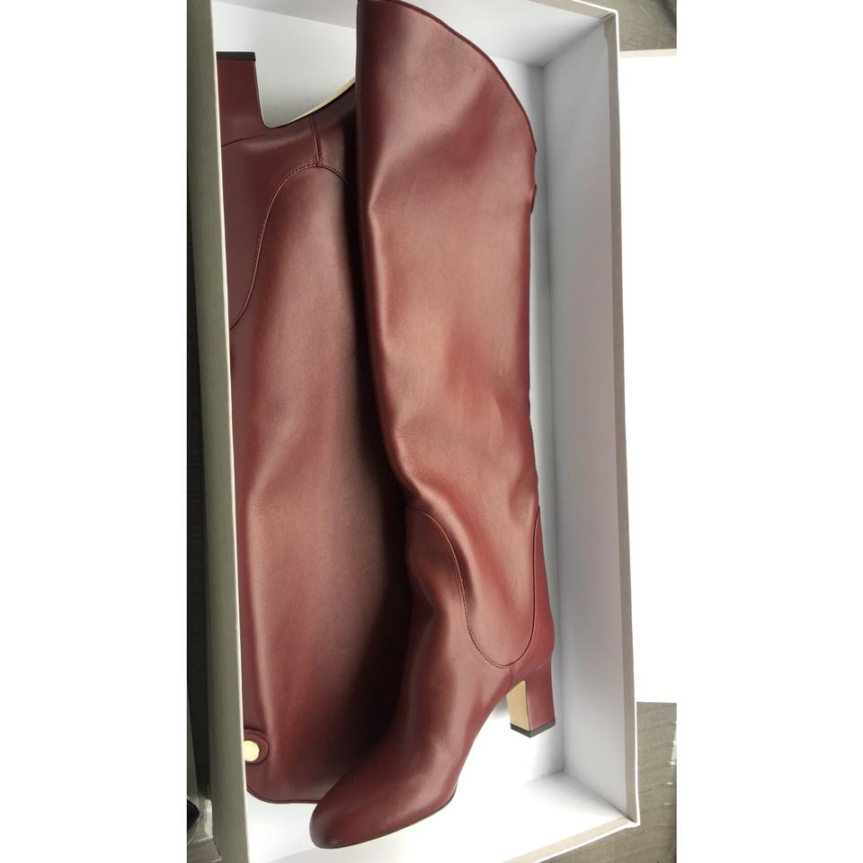 69b37d0f6cb Jimmy Choo Burgundy Minerva 65 Vino Smooth Leather Pull On Boots Booties  Size US 8.5 Regular (M