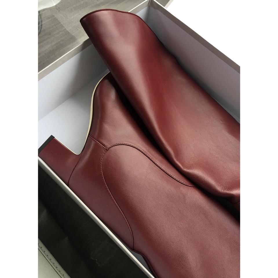 c36cf7de00a Jimmy Choo Burgundy Minerva 65 Vino Smooth Leather Pull On Boots ...