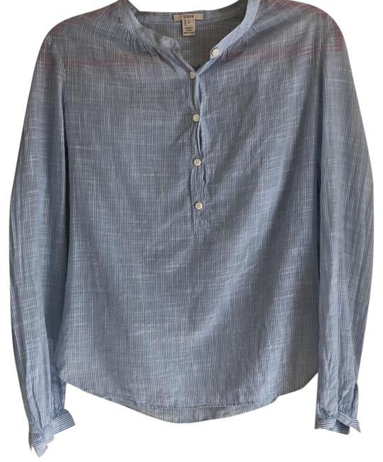 Preload https://img-static.tradesy.com/item/23720322/jcrew-light-bluewhite-striped-button-down-top-size-2-xs-0-1-650-650.jpg