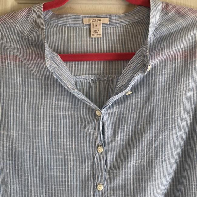 J.Crew Button Down Shirt Light blue/white
