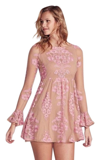 Preload https://img-static.tradesy.com/item/23720334/for-love-and-lemons-peachy-pink-temecula-mini-babydoll-short-casual-dress-size-8-m-0-1-650-650.jpg