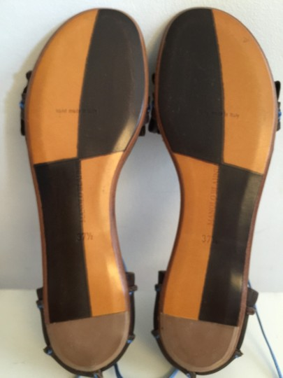 Manolo Blahnik Brown And Blue Sandals Image 3