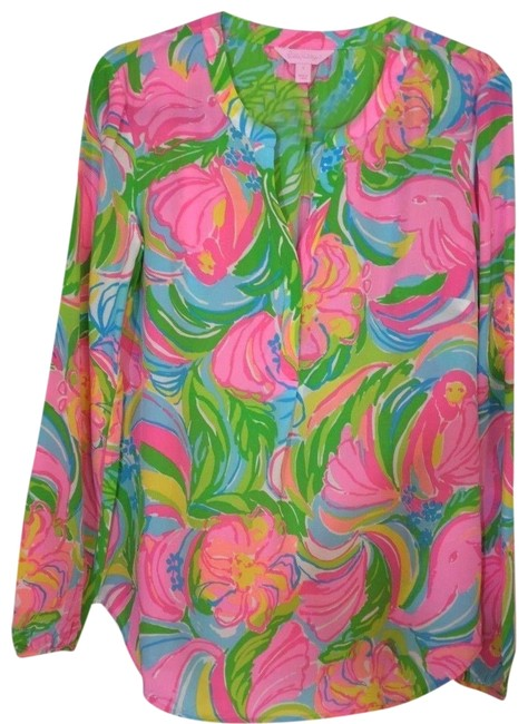 Preload https://img-static.tradesy.com/item/23720426/lilly-pulitzer-multi-color-stacey-so-a-peeling-silk-top-blouse-size-0-xs-0-1-650-650.jpg