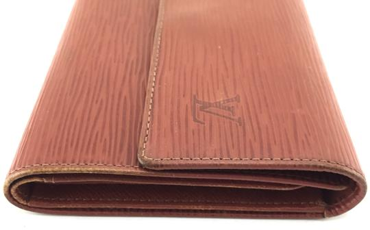 Louis Vuitton Epi leather Wide Large Long trifold Wallet Pocket organizer bill