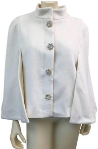 JB by Julie Brown Rhinestone Buttons Lined Cape